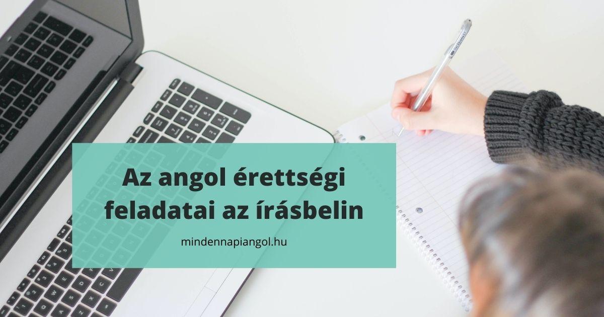 Az angol érettségi feladati az írásbelin | mindennapiangol.hu